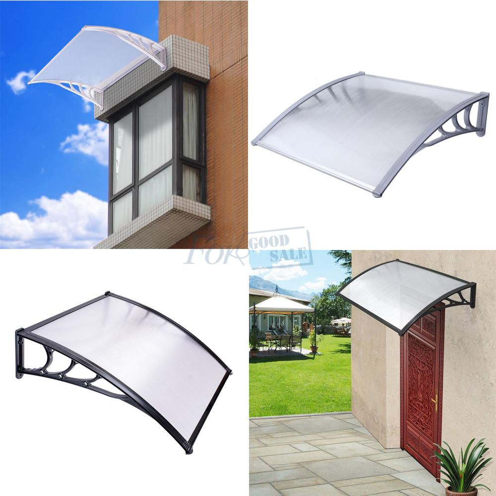 Front Back Window Canopy Awning Shelter Polycarbonate Rain